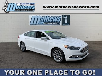 2017 White Ford Fusion SE 4 Door FWD Car 1.5 L 4-Cylinder Engine Automatic