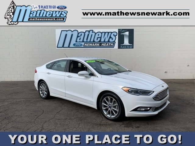 2017 White Ford Fusion SE 1.5 L 4-Cylinder Engine Sedan FWD 4 Door Automatic