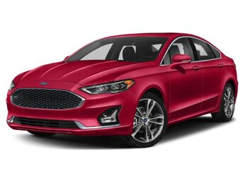 2020 Rapid Red Metallic Tinted Clearcoat Ford Fusion Titanium 4 Door Sedan Automatic FWD 2.0L 4 cyls Engine