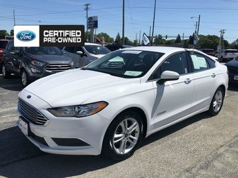 2018 Oxford White Ford Fusion Hybrid SE Sedan Automatic FWD 4 Door 2.0L 4-Cyl Engine