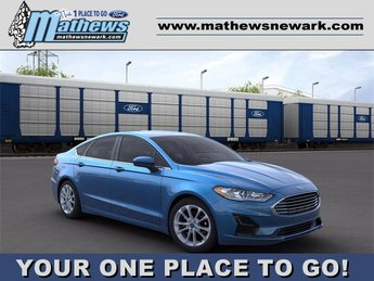 2020 Velocity Blue Metallic Ford Fusion Hybrid SE FWD 2.0 L 4-Cylinder Engine Car 4 Door