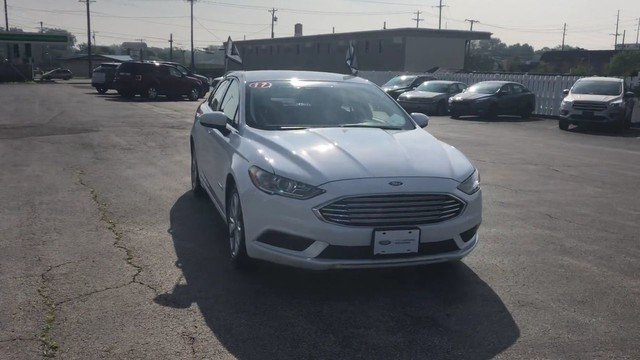 2017 Oxford White Ford Fusion Hybrid SE 2.0L 4-Cyl Engine 4 Door FWD Sedan Automatic