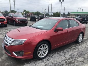 2012 Red Candy Metallic Tinted Ford Fusion SEL 2.5L 16v I4 Duratec Engine 4 Door Car Automatic FWD