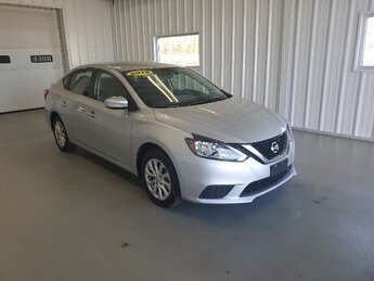 2019 Brilliant Silver Metallic Nissan Sentra SV 1.8L DOHC 16-Valve 4-Cyl Engine 4 Door FWD Car Automatic