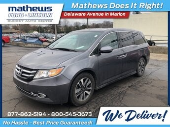 2014 Modern Steel Metallic Honda Odyssey Touring 4 Door Van 3.5L V6 SOHC i-VTEC 24V Engine Automatic