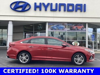 2019 Scarlet Red Hyundai Sonata SEL Car 2.4L I4 DGI DOHC 16V Engine Automatic