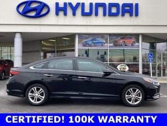 2018 Phantom Black Hyundai Sonata SEL Car 2.4L I4 DGI DOHC 16V ULEV II 185hp Engine FWD