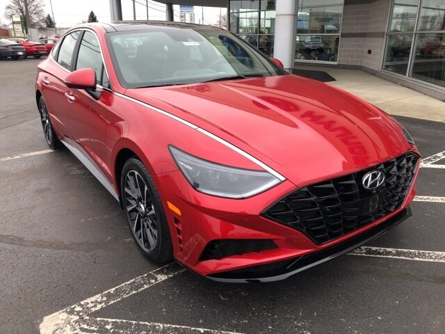 2021 Calypso Red Hyundai Sonata Limited 1.6L I4 Engine Car Automatic 4 Door FWD