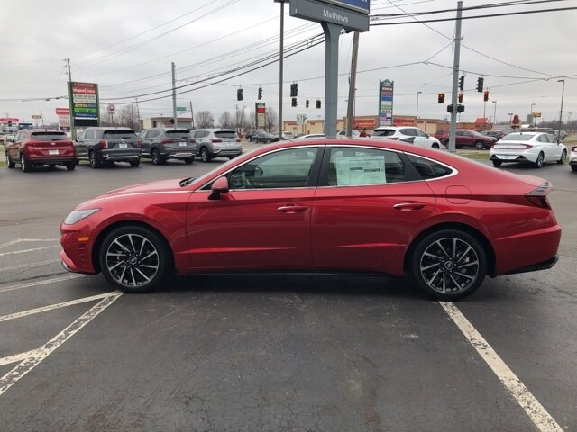 2021 Calypso Red Hyundai Sonata Limited 1.6L I4 Engine Automatic FWD