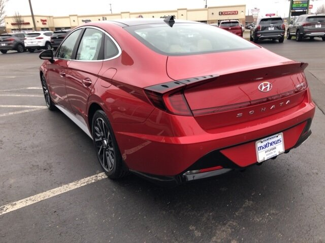 2021 Calypso Red Hyundai Sonata Limited Car FWD 1.6L I4 Engine