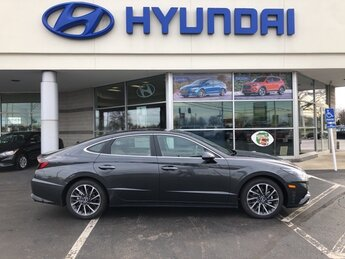 2021 Portofino Gray Hyundai Sonata Limited 1.6L I4 Engine Car FWD Automatic 4 Door