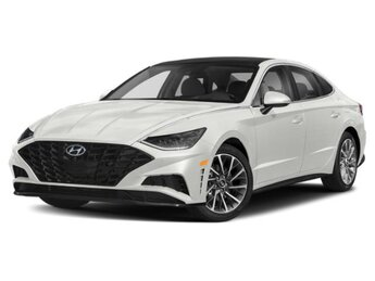 2021 Quartz White Hyundai Sonata Limited 4 Door FWD Car Automatic 1.6L I4 Engine