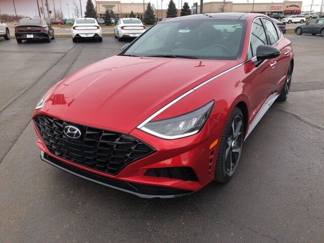 2021 Calypso Red Hyundai Sonata SEL Plus I4 Engine Car FWD 4 Door