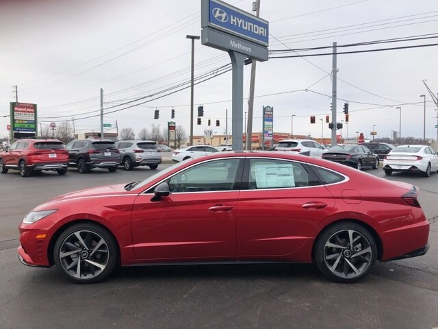 2021 Calypso Red Hyundai Sonata SEL Plus Car FWD Automatic