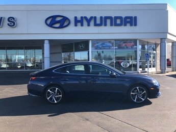 2021 Stormy Sea Hyundai Sonata SEL Plus 4 Door Car FWD