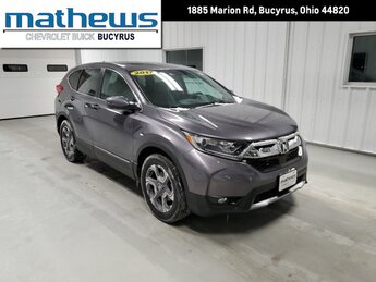 2017 Modern Steel Metallic Honda CR-V EX FWD 1.5L I-4 16-Valve DOHC Engine SUV 4 Door