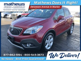 2015 Ruby Red Metallic Buick Encore Premium Automatic SUV ECOTEC 1.4L I4 SMPI DOHC Turbocharged VVT Engine FWD 4 Door