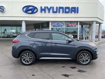 2021 Dusk Blue Hyundai Tucson Ultimate Automatic 2.4L I4 DGI DOHC 16V Engine 4 Door FWD SUV