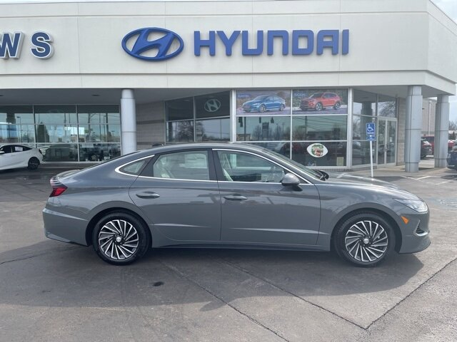 2021 Hampton Gray Hyundai Sonata Hybrid SEL I4 Engine Automatic FWD Car