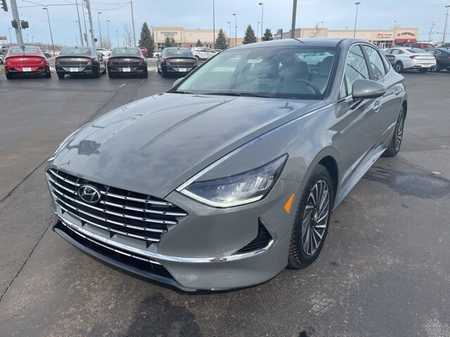 2021 Hampton Gray Hyundai Sonata Hybrid SEL Automatic I4 Engine 4 Door FWD Car