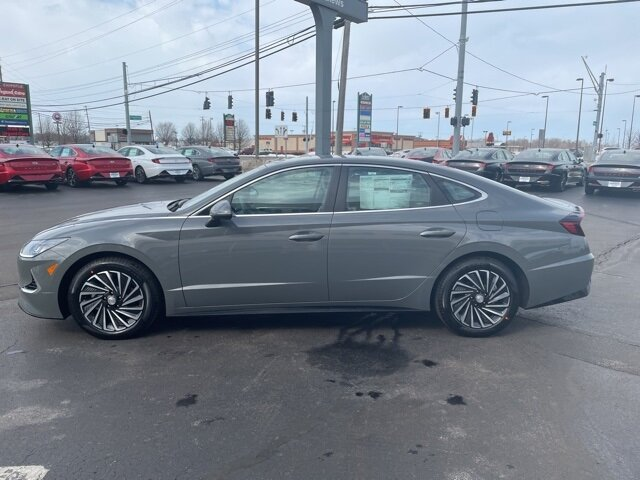 2021 Hampton Gray Hyundai Sonata Hybrid SEL 4 Door FWD Car Automatic I4 Engine