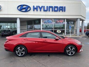 2021 Lava Orange Hyundai Elantra Limited Car 2.0L 4-Cylinder DOHC 16V Engine 4 Door