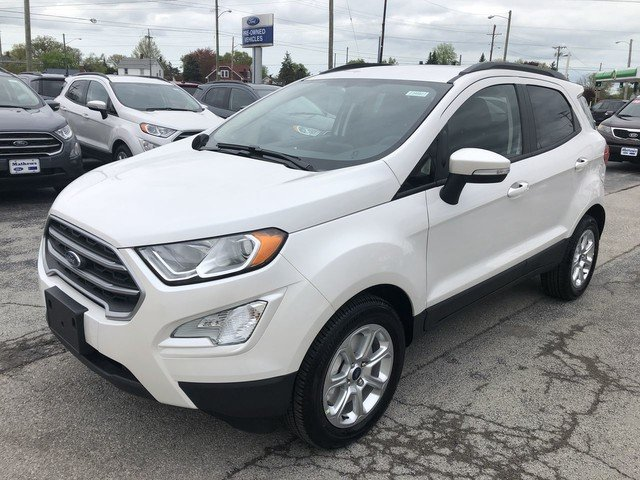 2019 White Platinum Metallic Tri-Coat Ford EcoSport SE 4 Door FWD SUV
