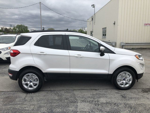 2019 White Platinum Metallic Tri-Coat Ford EcoSport SE FWD SUV 4 Door