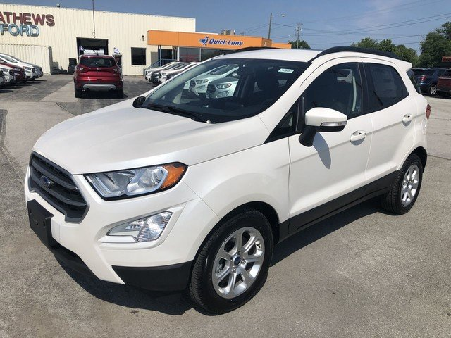2019 White Platinum Metallic Tri-Coat Ford EcoSport SE 4 Door SUV FWD