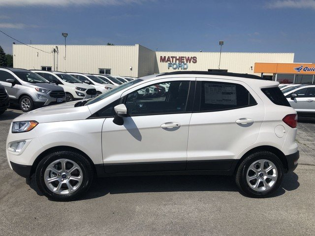 2019 White Platinum Metallic Tri-Coat Ford EcoSport SE FWD 4 Door SUV