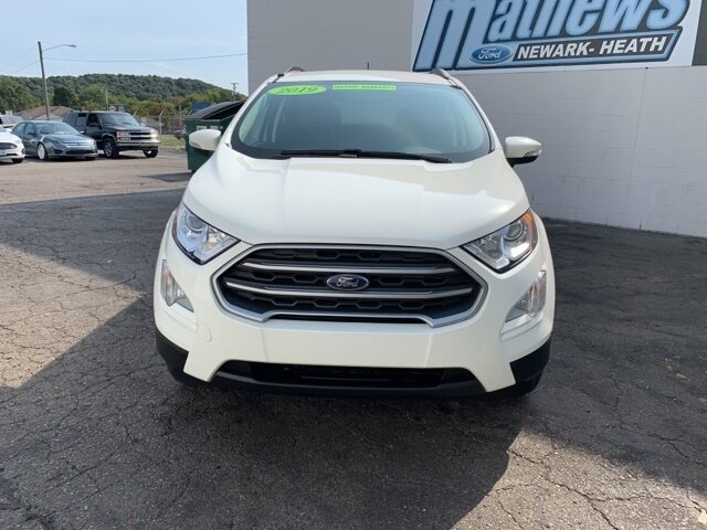 2019 White Ford EcoSport SE FWD 1.0 L 3-Cylinder Engine 4 Door SUV Automatic