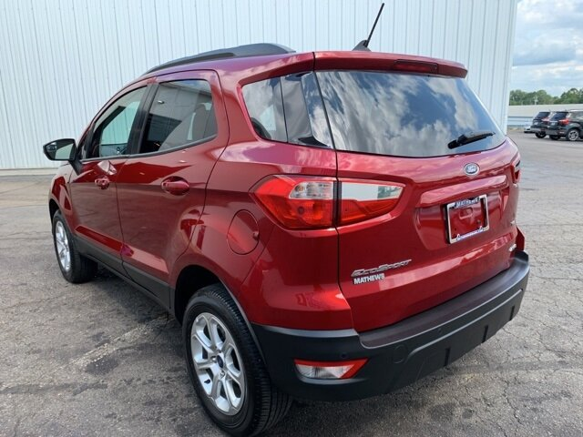 2019 Red Ford EcoSport SE SUV 4 Door Automatic AWD 2.0 L 4-Cylinder Engine
