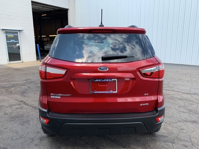 2019 Red Ford EcoSport SE AWD 2.0 L 4-Cylinder Engine SUV 4 Door