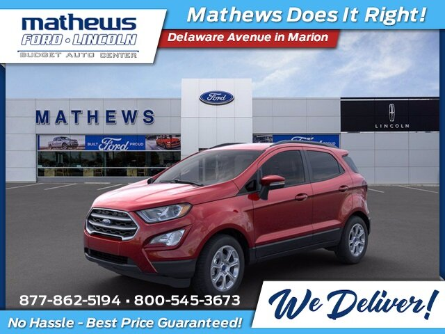 2021 Ruby Red Metallic Tinted Clearcoat Ford EcoSport SE 4X4 2.0L I4 Ti-VCT GDI Engine SUV 4 Door Automatic