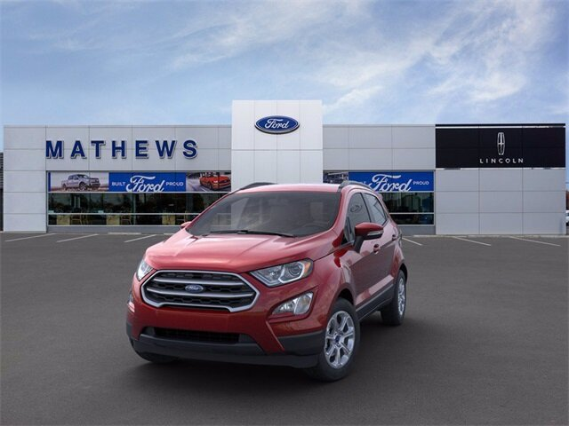 2021 Ruby Red Metallic Tinted Clearcoat Ford EcoSport SE SUV Automatic 4X4