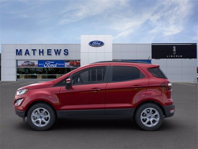 2021 Ruby Red Metallic Tinted Clearcoat Ford EcoSport SE 4X4 4 Door 2.0L I4 Ti-VCT GDI Engine Automatic