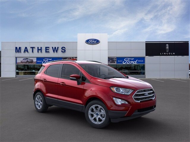 2021 Ruby Red Metallic Tinted Clearcoat Ford EcoSport SE Automatic 2.0L I4 Ti-VCT GDI Engine SUV 4X4