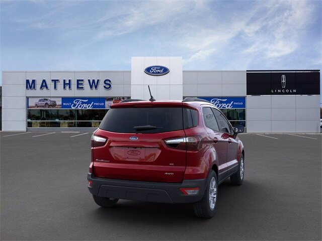 2021 Ruby Red Metallic Tinted Clearcoat Ford EcoSport SE SUV 2.0L I4 Ti-VCT GDI Engine Automatic