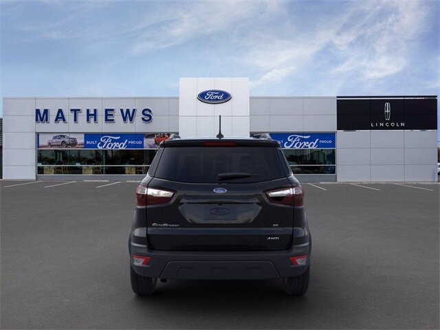 2021 Shadow Black Ford EcoSport SE Automatic 4 Door SUV 2.0L I4 Ti-VCT GDI Engine 4X4