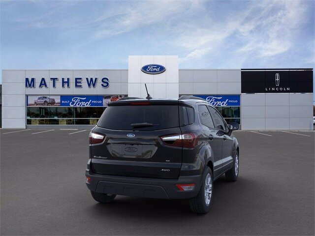 2021 Shadow Black Ford EcoSport SE SUV Automatic 2.0L I4 Ti-VCT GDI Engine 4X4 4 Door