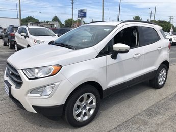 2019 White Platinum Metallic Tri-Coat Ford EcoSport SE 2.0L 4-Cyl Engine 4 Door 4X4 SUV Automatic