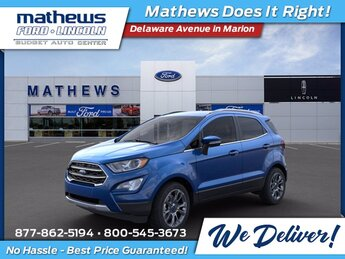 2021 Lightning Blue Metallic Ford EcoSport Titanium 2.0L I4 Ti-VCT GDI Engine 4X4 4 Door