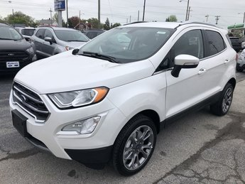2019 White Platinum Metallic Tri-Coat Ford EcoSport Titanium Automatic SUV 2.0L 4-Cyl Engine 4 Door 4X4