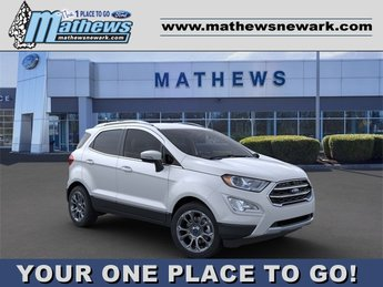 2020 White Platinum Metallic Tri-Coat Ford EcoSport Titanium 4 Door SUV 2.0 L 4-Cylinder Engine Automatic AWD