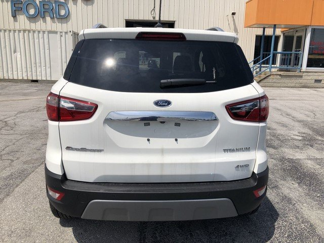 2019 WHITE Ford EcoSport Titanium 2.0L 4-Cyl Engine 4 Door Automatic 4X4 SUV