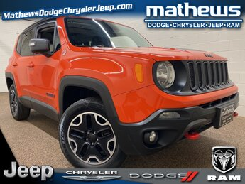2016 Omaha Orange Jeep Renegade Trailhawk 4X4 SUV 2.4L I4 MultiAir Engine Automatic 4 Door