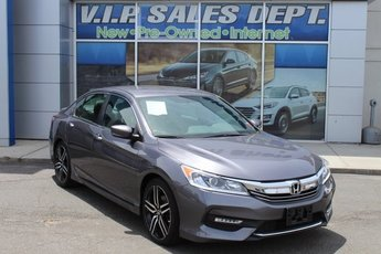2016 Modern Steel Metallic Honda Accord Sport Sedan 4 Door 2.4L I4 DOHC i-VTEC 16V Engine Automatic (CVT) FWD