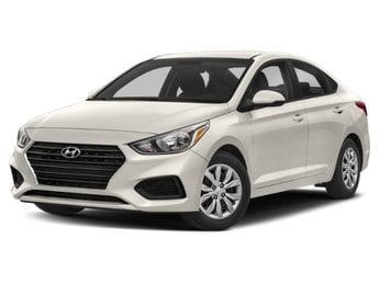 2019 Frost White Pearl Hyundai Accent SEL Sedan Automatic 1.6L 4-Cylinder Engine FWD
