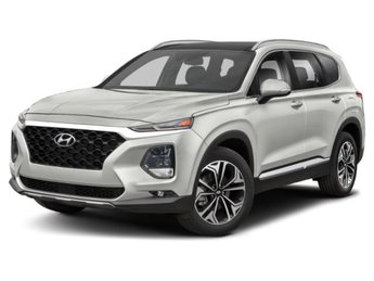 2019 Quartz White Hyundai Santa Fe Ultimate AWD Automatic 4 Door SUV 2.0L 4-Cylinder Turbocharged Engine