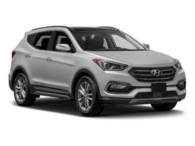 2018 Pearl White Hyundai Santa Fe Sport 2.0T Ultimate AWD 4 Door 2.0L 4-Cylinder Turbocharged Engine SUV